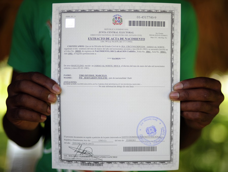 Religious weigh god s law against country s law for Haitian birth certificate template