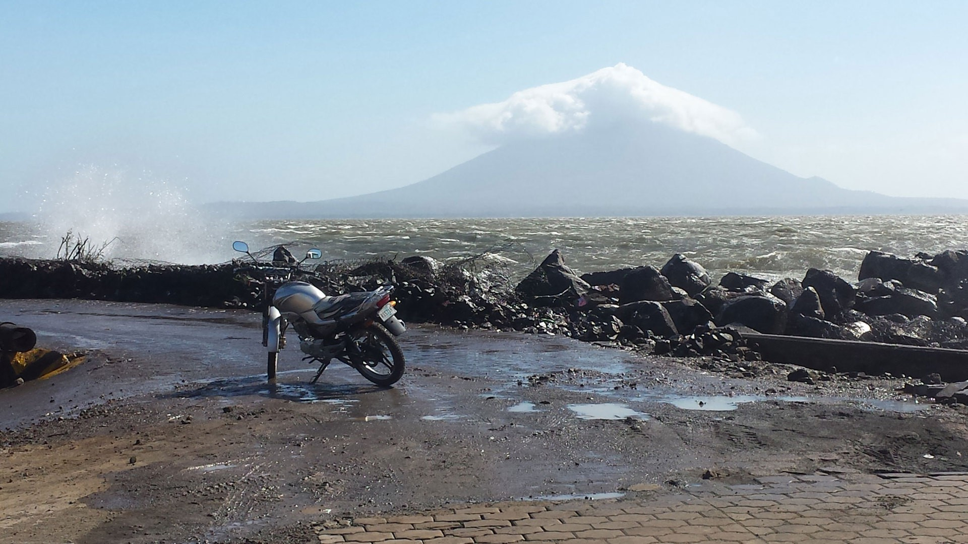 The Volcan Concepción sits in the middle of Lake Nicaragua. (Photo by Sara Weber)
