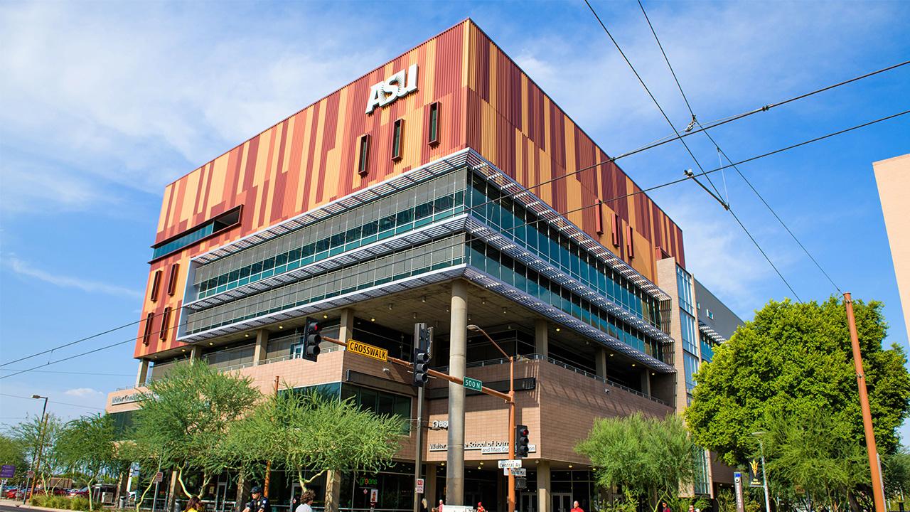 The Cronkite School building in Phoenix.
