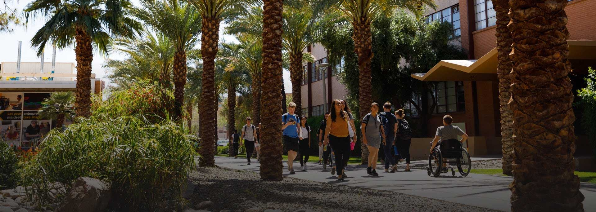 Students at ASU campus