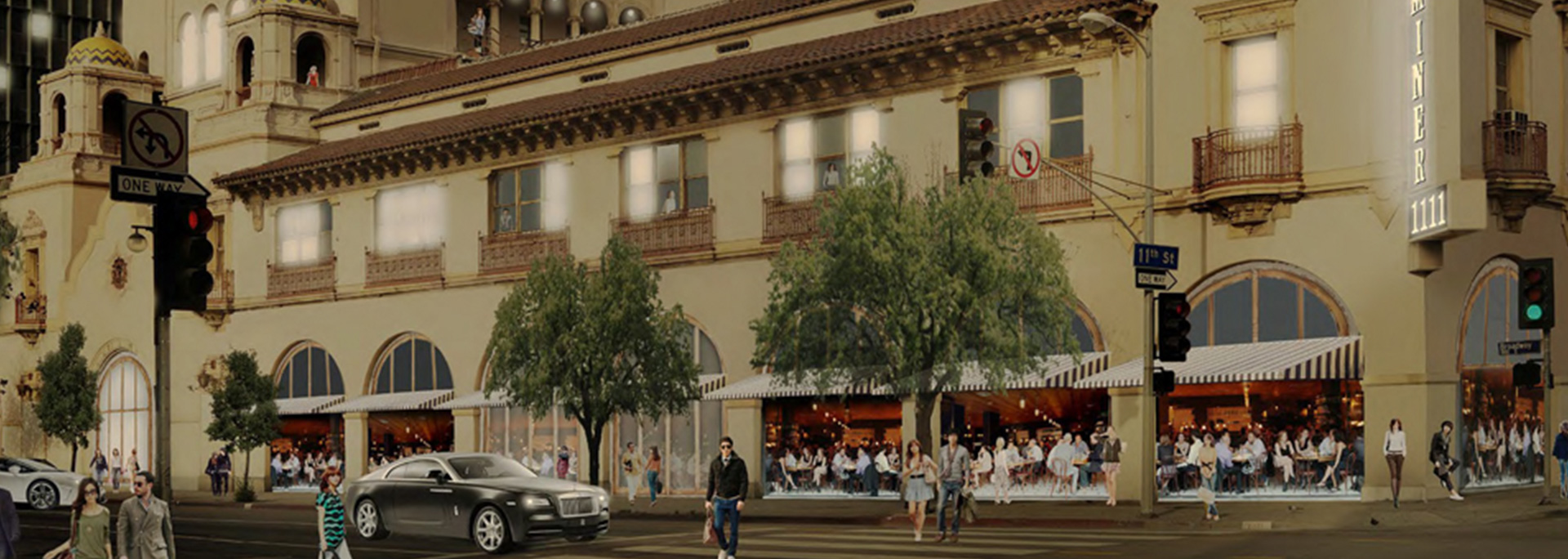 Herald Examiner renovation concept, Cronkite in LA