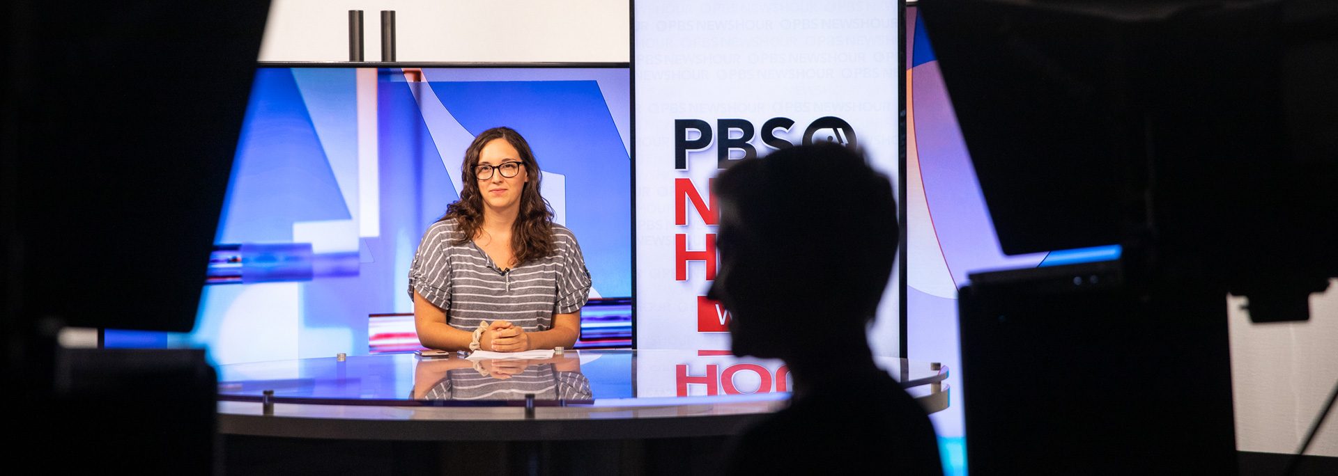 PBS Newshour West scouting new set. Photo by Ellen O'Brien